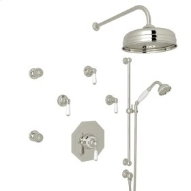 Polished Nickel Edwardian U.KIT37L Thermostatic Shower Package with Metal Lever
