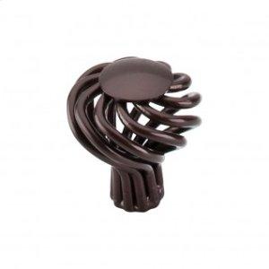 Round Small Twist Knob 1 1/4 Inch - Oil Rubbed Bronze