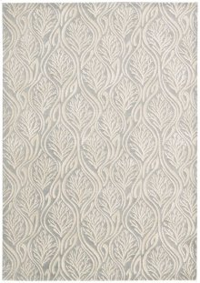 Hollywood Shimmer Ki100 Ltgry Rectangle Rug 5'3'' X 7'5''