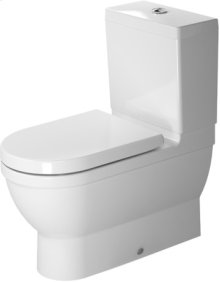 White Starck 3 Toilet Close-coupled