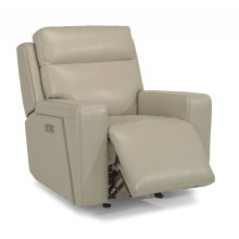 Niko Leather Power Gliding Recliner with Power Headrest