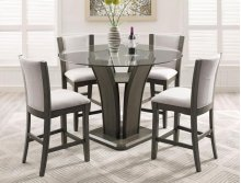 Camelia Counter Height Table & 4 Grey Chairs