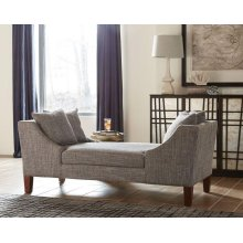 Mid-century Modern Grey Double-sided Chaise