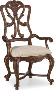 Adagio Wood Back Arm Chair
