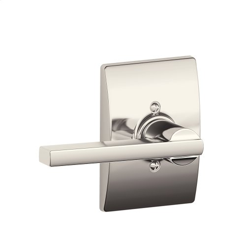 Latitude Lever with Century trim Non-turning Lock - Polished Nickel