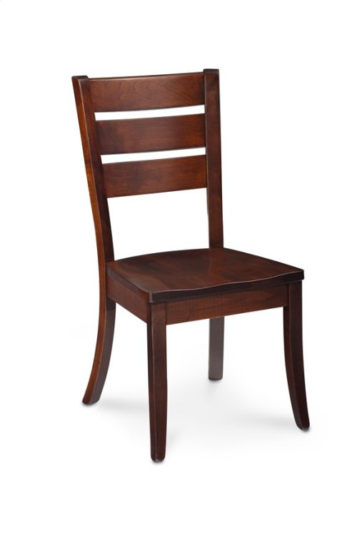 Lakewood Side Chair, Leather Cushion Seat