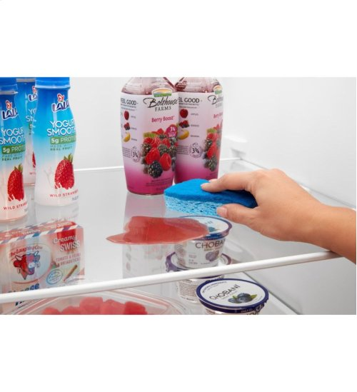 33-inch Side-by-Side Refrigerator with Dual Pad External Ice and Water Dispenser