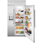"Cafe Appliances 42"" Smart Built-In Side-by-Side Refrigerator with Dispenser"