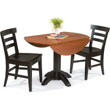 Pedestal Table with Drop-Leaf (round)