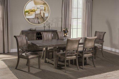 Legacy 7 Piece Dining Set - Dark Gray