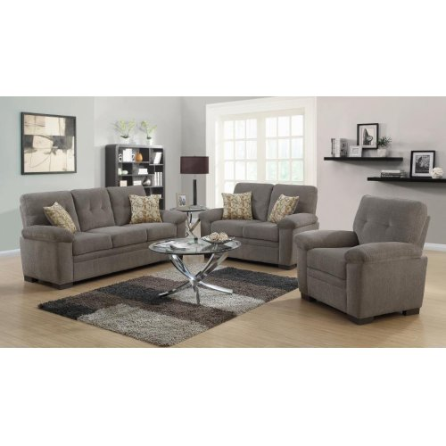 Fairbairn Casual Brown Two-piece Living Room Set
