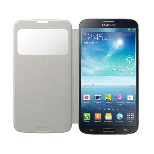 Galaxy Mega S-View Flip Cover, White