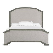 Complete Queen Panel Upholstered Bed
