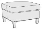 Normandy Ottoman in Mocha (751) Product Image