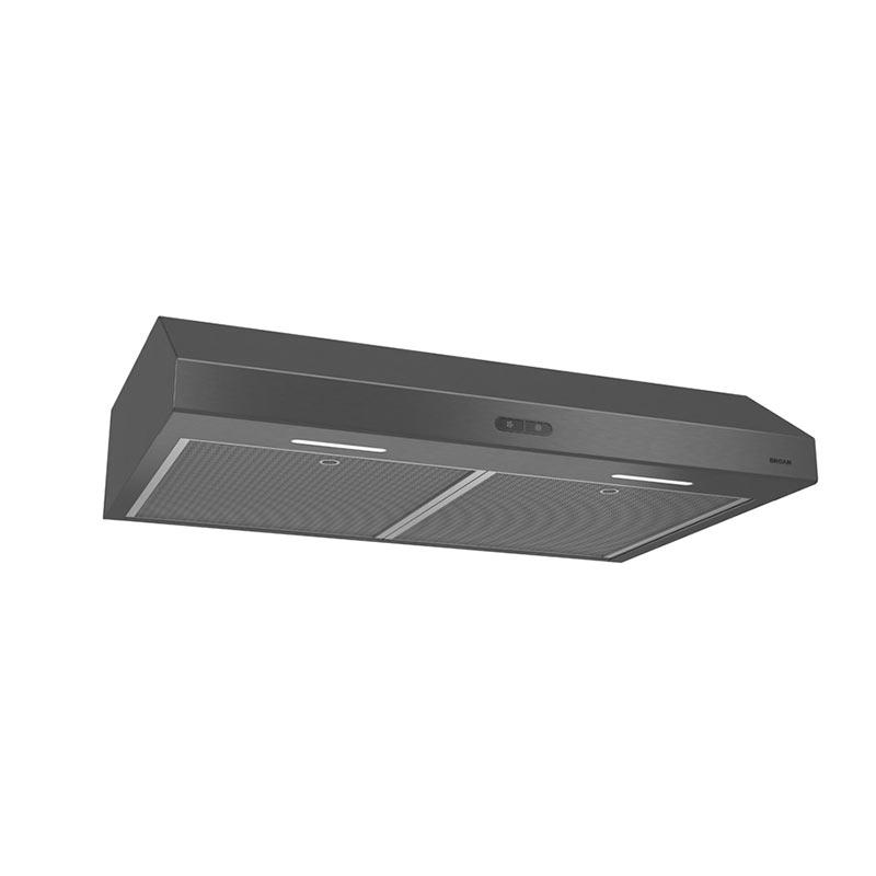 Glacier 36-Inch 300 CFM Black Stainless Steel Range Hood  BLACK