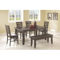 Dalila Casual Cappuccino Six-piece Dining Set Product Image