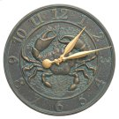 "Crab Sea Life 16"" Indoor Outdoor Wall Clock - Bronze Verdigris Product Image"