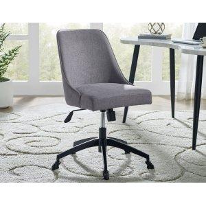 Steve Silver Co.Kinsley Swivel Upholstered Desk Chair, Gray