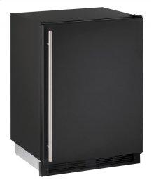 "1000 Series 24"" Solid Door Refrigerator With Black Solid Finish and Field Reversible Door Swing (115 Volts / 60 Hz)"