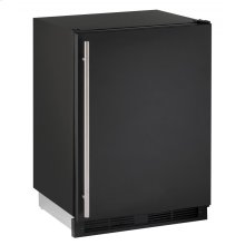 "1000 Series 24"" Solid Door Refrigerator With Black Solid Finish and Field Reversible Door Swing (115 Volts / 60 Hz)"