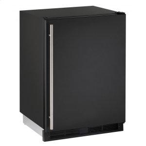 """U-Line1000 Series 24"""" Solid Door Refrigerator With Black Solid Finish and Field Reversible Door Swing (115 Volts / 60 Hz)"""