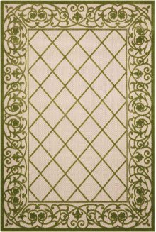 Aloha Alh16 Green Rectangle Rug 5'3'' X 7'5''