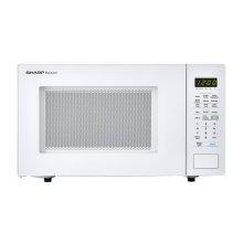 1.4 cu. ft. 1000W Sharp White Countertop Microwave