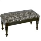 Black & White Woven Geo Bench. Product Image