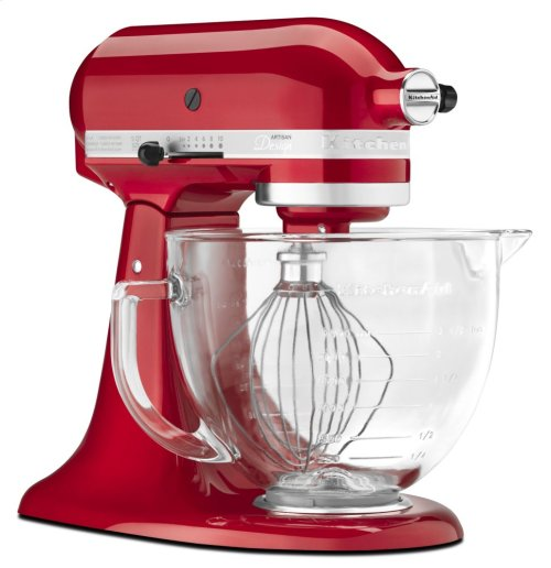Artisan® Design Series 5 Quart Tilt-Head Stand Mixer with Glass Bowl - Candy Apple Red