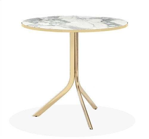 Carina Bistro Table - Arabescato/ Brass