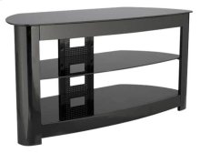 """Audio Video Stand Black lacquered finish - fits AV components and TVs up to 56"""""""