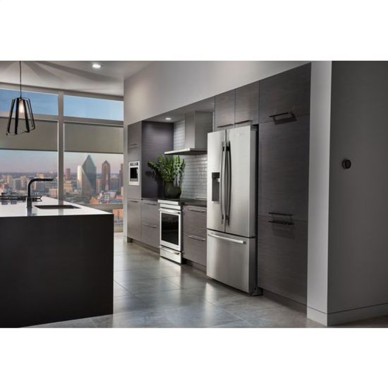 72 Counter Depth French Door Refrigerator With Obsidian Interior