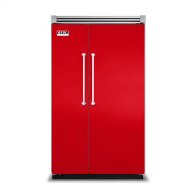 """Racing Red 48"""" Side-by-Side Refrigerator/Freezer - VISB (Integrated Installation)"""