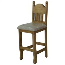 """17"""" x 49"""" x 30"""" Stone Star Barstool with Cushion Seat and Stone Star"""