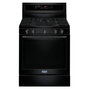 Maytag® 30-Inch Wide Gas Range With True Convection And Power Preheat - 5.8 Cu. Ft. - Black Product Image