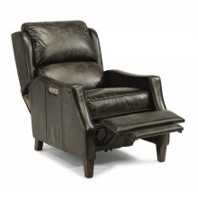 Ethan Leather Power High-Leg Recliner with Power Headrest