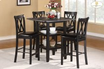 5-Piece Pack Counter Height Set Table : 39 x 39 x 36H Chair : 18 x 20.5 x 40H Product Image