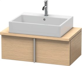 Vero Vanity Unit For Console Compact, Brushed Oak (real Wood Veneer)