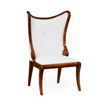 """Walnut """"Butterfly"""" Upholstered Side Chair - COM"""