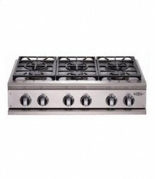 """Brushed Stainless Steel 36"""" Prof. Cooktop"""