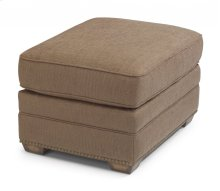 Whitney Fabric Ottoman with Nailhead Trim