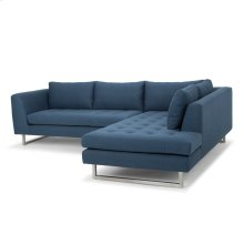 Janis Sectional  Lagoon Blue