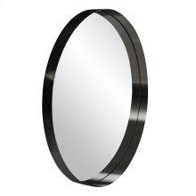Steele Black Round Mirror