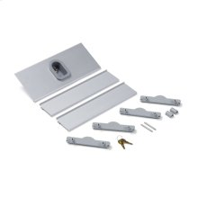 """16"""" W X 4"""" D Compartment Keyed Safety Lock Box In Aluminum Finish"""