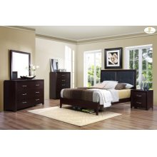 4 piece queen bed, dresser, mirror and nightstand