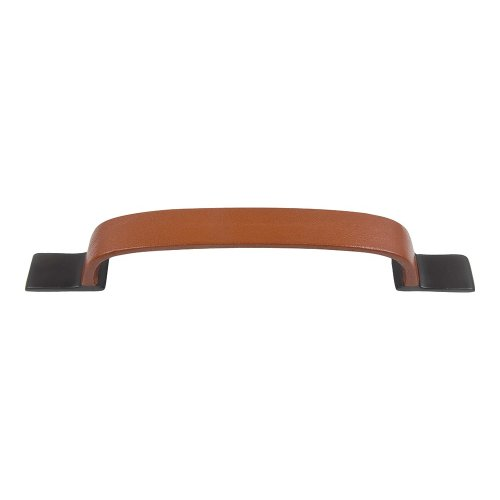 Hamptons Saddle Leather Pull 7 9/16 Inch (c-c) - Aged Bronze