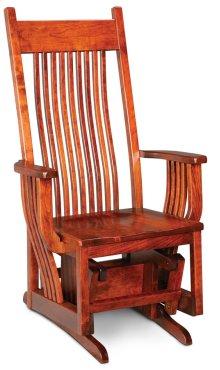 Oak Park Glider, Fabric Cushion Seat