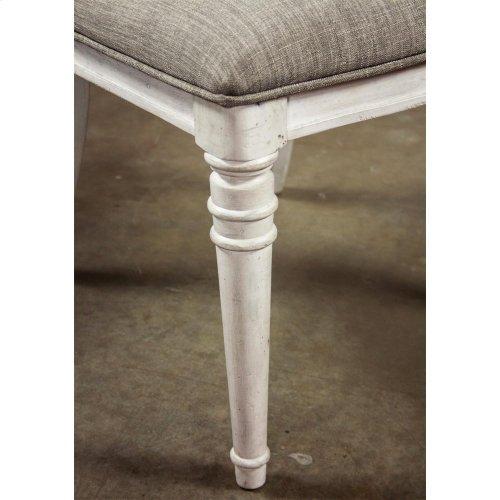Elizabeth - Upholstered Ladderback Side Chair - Smokey White Finish