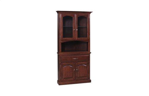 Grand Corner Cabinet Half Hutch