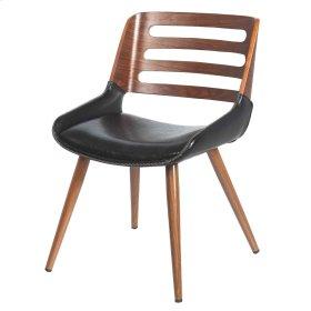 Shelton KD Chair, Black/ Walnut